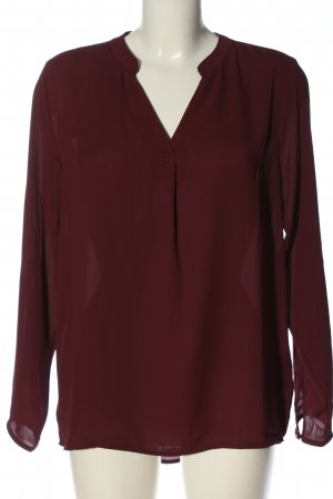 Amisu Koszulowa bluzka czerwony W stylu casual