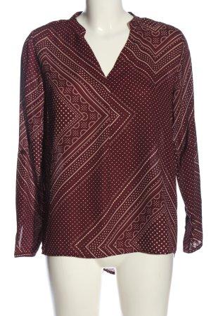 Amisu Blusa-camisa rojo-blanco puro estampado repetido sobre toda la superficie