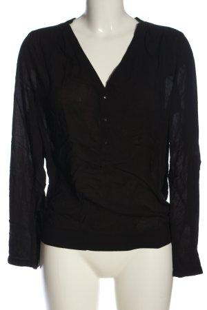 Amisu Hemd-Bluse schwarz Casual-Look