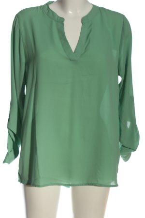 Amisu Hemd-Bluse grün Business-Look