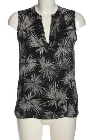Amisu Hemd-Bluse schwarz-weiß Allover-Druck Casual-Look