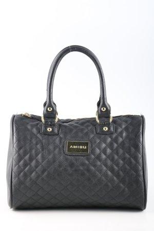 Amisu Draagtas zwart quilten patroon zakelijke stijl