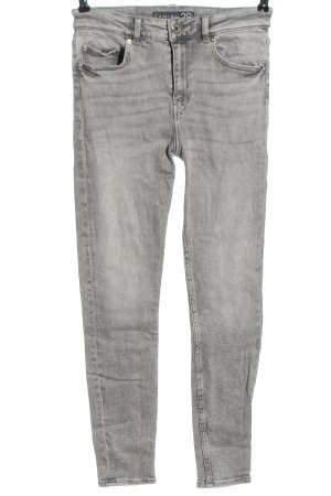 Amisu High Waist Jeans hellgrau Casual-Look