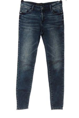 Amisu Jeansy z wysokim stanem niebieski W stylu casual