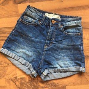 ❤️AMISU❤️ High Waist Jeans Shorts Stretch Gr. 32 blau top!