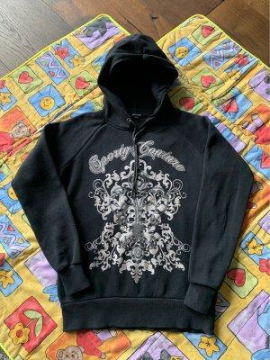 Amisu Hooded Sweatshirt black-silver-colored