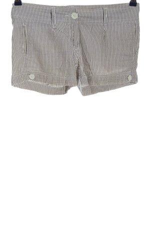 Amisu Hot Pants weiß-braun Allover-Druck Casual-Look