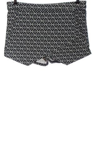 Amisu Hot Pants schwarz-weiß Allover-Druck Casual-Look