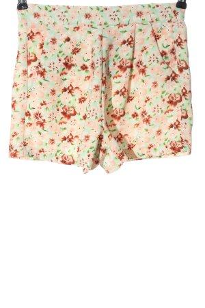 Amisu Krótkie szorty Wzór w kwiaty W stylu casual