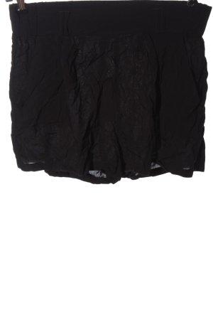 Amisu Krótkie szorty czarny W stylu casual