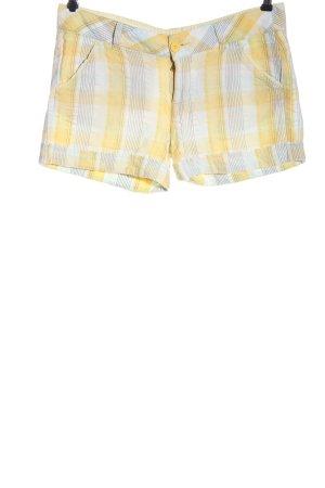 Amisu Krótkie szorty bladożółty-biały Na całej powierzchni W stylu casual
