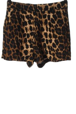 Amisu Krótkie szorty brązowy-czarny Na całej powierzchni W stylu casual