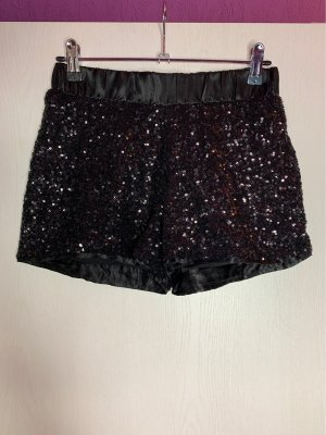 AMISU - Hot Pants mit Pailletten - schwarz/black