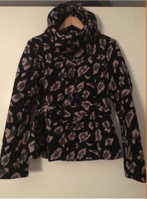 ❤️AMISU❤️ Jacke Wolljacke schwarz rosa top Gr. 38