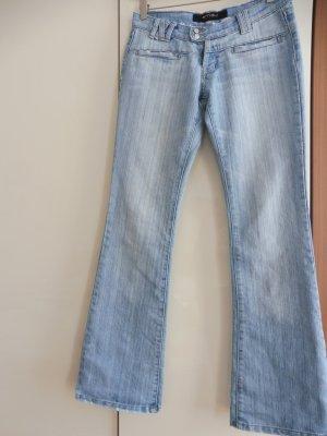 Amisu Jeans Blau Bootcut Grösse 36