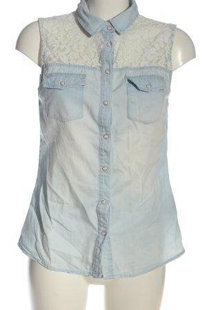 Amisu Bluzka jeansowa niebieski-w kolorze białej wełny W stylu casual
