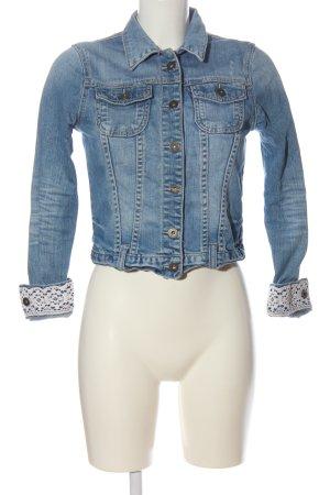 Amisu Veste en jean bleu style décontracté