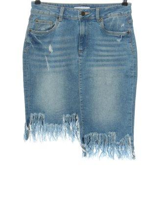 Amisu Jeansrock blau Casual-Look