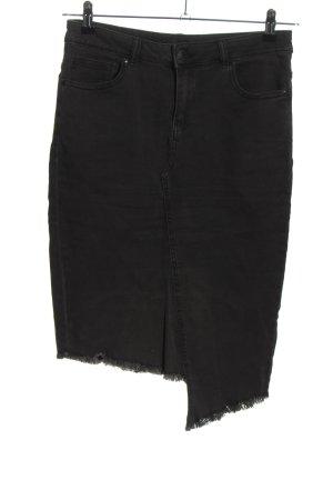 Amisu Gonna di jeans nero stile casual