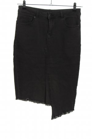 Amisu Denim Skirt black casual look