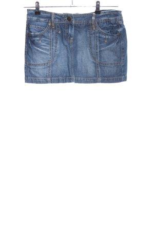 Amisu Gonna di jeans blu stile casual