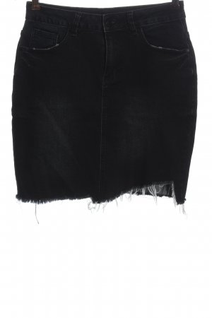 Amisu Spijkerrok zwart casual uitstraling