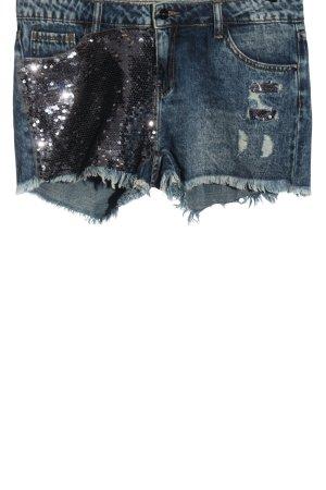 Amisu Jeansshorts blau-silberfarben Casual-Look