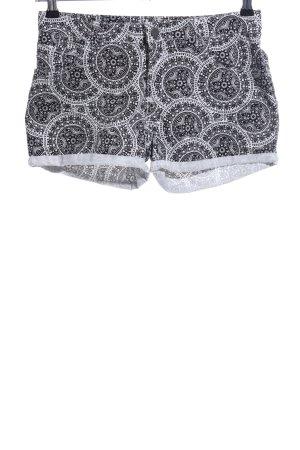 Amisu Jeansshorts schwarz-weiß Mustermix Casual-Look