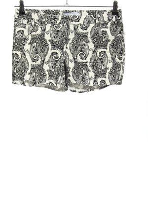 Amisu Jeansshorts weiß-schwarz abstraktes Muster Casual-Look