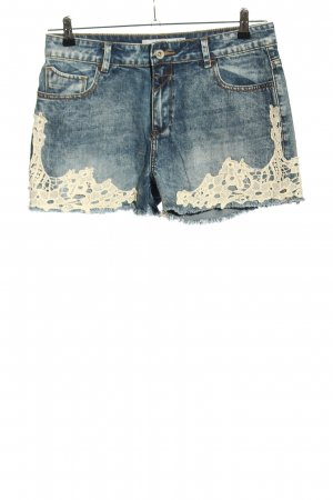 Amisu Jeansshorts blau-wollweiß Casual-Look