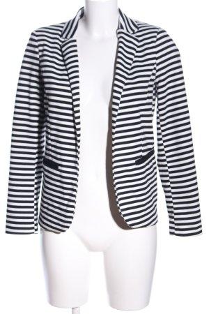 Amisu Jerseyblazer weiß-schwarz Allover-Druck Casual-Look