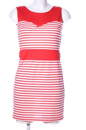 Amisu Jersey Dress white-red allover print casual look