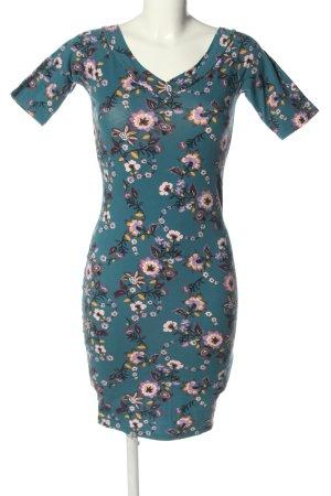 Amisu Jerseykleid blau-pink Allover-Druck Casual-Look