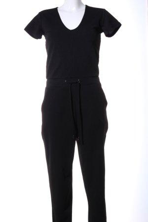 Amisu Jumpsuit zwart casual uitstraling