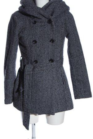 Amisu Capuchon jas zwart-wit zakelijke stijl