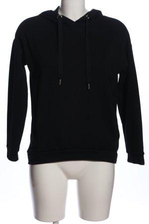 Amisu Sweter z kapturem czarny W stylu casual