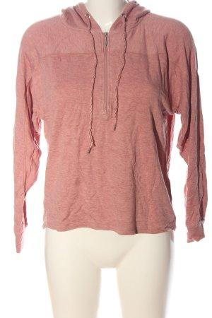 Amisu Kapuzensweatshirt pink meliert Casual-Look