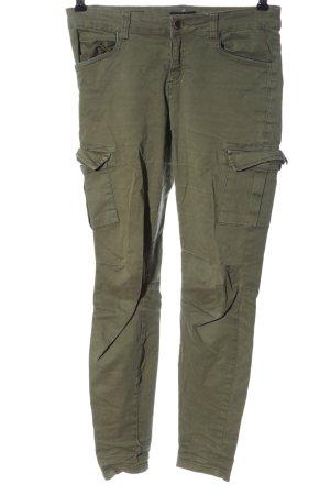 Amisu Spodnie khaki khaki W stylu casual