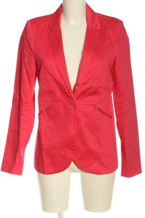 Amisu Klassischer Blazer czerwony W stylu biznesowym