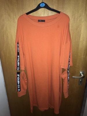 Amisu Longsleeve Dress dark orange