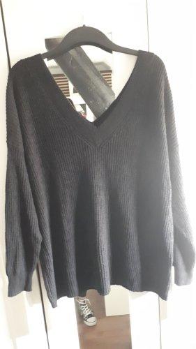 Amisu Knitwear Longpulli mit ultra V Ausschnitt Gr.XL