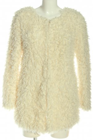 Amisu Fake Fur Jacket cream casual look