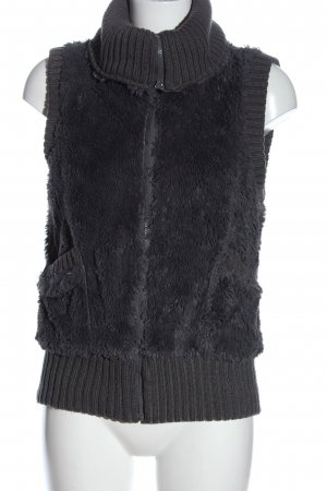 Amisu Fake Fur Vest light grey casual look