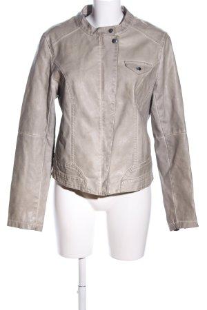 Amisu Faux Leather Jacket brown street-fashion look