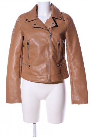 Amisu Faux Leather Jacket brown casual look
