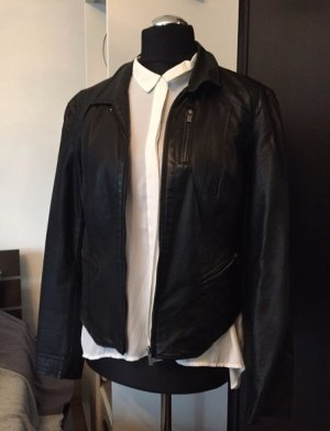 Amisu Kunstlederjacke schwarz