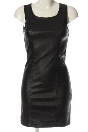 Amisu Kunstlederkleid schwarz Casual-Look