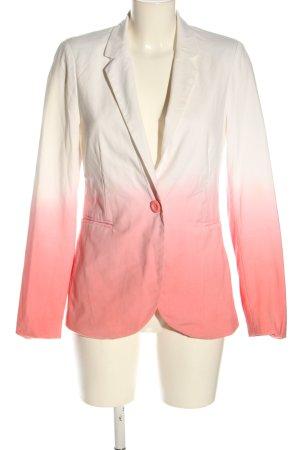 Amisu Korte blazer wit-roze kleurverloop elegant