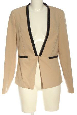 Amisu Blazer corto crema-negro estilo «business»
