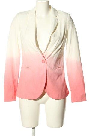 Amisu Korte blazer wit-roze kleurverloop klassieke stijl